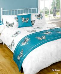 Luxury Super King Size Bed Duvet Quilt Bedding Bed In A Bag Teal Single Double King Kingsize