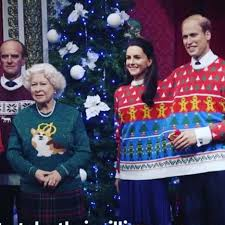 royal family wears ugly christmas sweaters wins the holidays