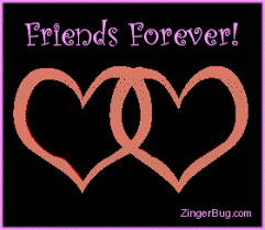 Friends Forever Meme - friends forever linked hearts 3d graphic glitter graphic greeting