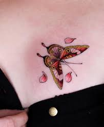 free tattoo designs butterfly tattoo design on the chest