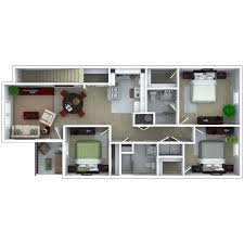 3 Bedroom Apartments Floor Plans by Michigan City Apartments Floor Plans