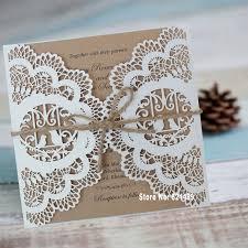 lace invitations vintage wedding invitation rustic bridal shower invitation