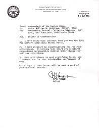 Letter Of Commendation June 15 1965 Letter Of Commendation
