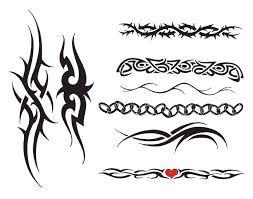 tribal band tattoos meaning tribal tattoos around arm tribal