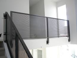 metal landing banister and railing mesh aluminum interior railing metal railings metals and staircases