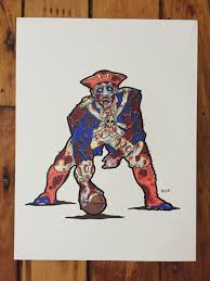 new england patriots zombie football player pat the patriot