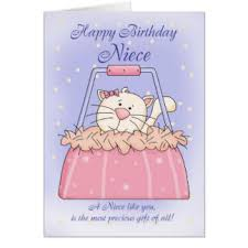 cat birthday for nieces cards greeting u0026 photo cards zazzle