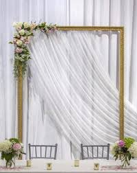 wedding backdrop gold gold frame wedding arch in the 6ix weddings