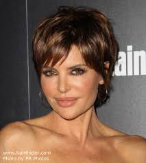 what is the texture of rinnas hair lisa rinna modern pixie haircut for a 50 years old lady