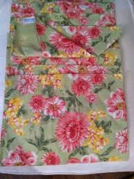 new april cornell yellow pink green floral cotton fabric set of 4
