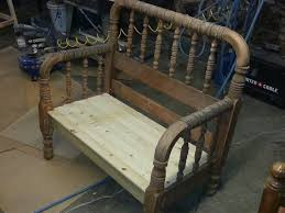 Bench Made From Bed Headboard 19 Best Benches Made From Beds Images On Pinterest Bed Frame