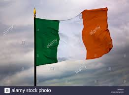 Green White Orange Flag Irish Flag Tricolour Green White And Orange Stock Photo Royalty