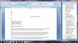 Block Format Business Letter by Corr 50 32 Modified Block Style Business Letter Youtube