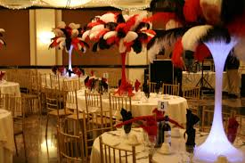 themed centerpieces the feather casino theme centerpieces and black themed