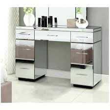 mirrored console vanity table mirrored table with drawer naderve info
