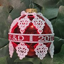 blank ornaments to personalize machine embroidery designs k lace ornament covers