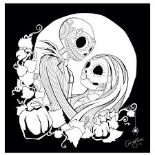Halloween Coloring Pages Adults Jack Sally Jack U0026 Sally Pinterest Sally Coloring And