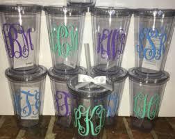 bridesmaid cups bridesmaid monogram etsy