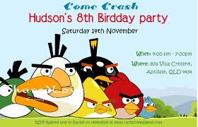 free birthday invitation card birthday invitations angry bird invitations templates ideas