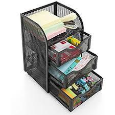wire mesh desk organizer amazon com black wire mesh metal office desktop organizer