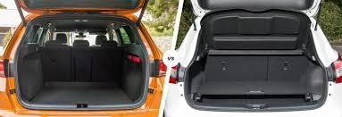 nissan qashqai trunk space seat ateca vs nissan qashqai suv comparison carwow