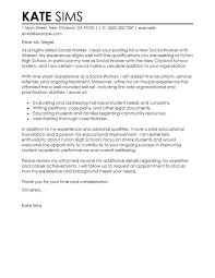 social work cover letter for resume medical social work cover