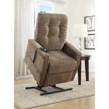 Lift Chair Recliner Myles Brown Fabric Power Lift Chair Recliner Free Shipping Today