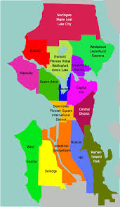 seattle map by district seattle overview map mapsof net
