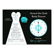 around the clock bridal shower around the clock bridal shower invitations zazzle