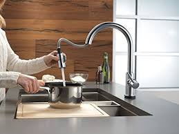 Amazon Delta Kitchen Faucets Delta Faucet 9159t Ar Dst Trinsic Single Handle Pull Down Kitchen