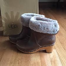 ugg shoes australia brown boots poshmark ugg shoes australia lynnea brown leather fur booties poshmark