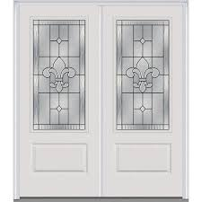 french doors with blinds between the glass 1 2 lite doors with glass fiberglass doors the home depot