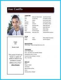 Acting Resume Template Free Resume Template Brochure Free Download Microsoft Word Blank