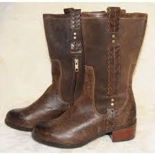 ugg shoes australia brown boots poshmark ugg ugg australia brown leather braided fall boots 7 5 from