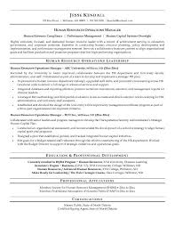 Sample Resume Manager by Free Human Resources Operations Manager Resume Example