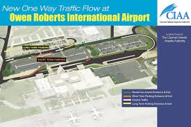 Grand Cayman Islands Map Airport Adopts One Way Road System Cayman Compass