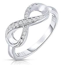 sterling rings images 925 sterling silver forever infinity ring with cz jewelry jpg
