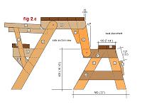 Folding Picnic Table Plans Folding Picnic Table Plans Side Elevation Diy Ideas
