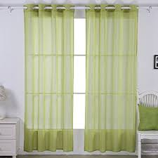 Green Curtains For Living Room by Sheer Curtains For Living Room Amazon Com