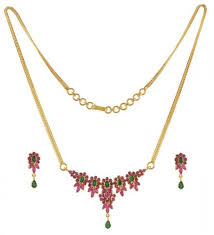 emerald ruby necklace images Emerald and ruby necklace set ajns51262 22k gold emerald and jpg