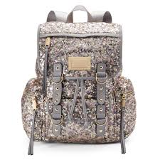 couture blush sequin backpack