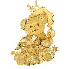 the 2016 gold christmas ornament collection the danbury mint