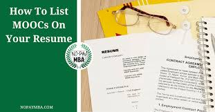 How Many Jobs To List On Resume by How To List Moocs On Your Resume