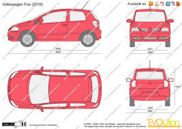 volkswagen fox 2006 the blueprints com vector drawing volkswagen fox
