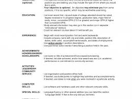 Resume Label Example by Outline Of Resume Resume Outline Template 13 Free Sample Example