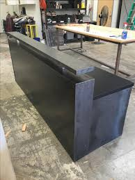 Black Reception Desk Buy A Custom Made 44 Black Steel Memphis Reception Desk Made To