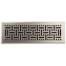 Floorregisters N Vents by Shop Allen Roth Wicker Satin Nickel Steel Floor Register Rough