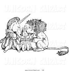 fantasy vector clip art of a coloring page retro vintage black and