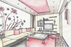 Living Room Architecture Drawing Interior Architecture Drawing