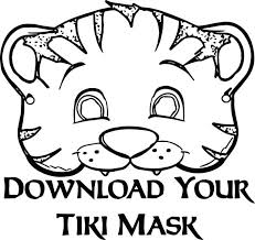 mask coloring pages print african printable sheets pj mask